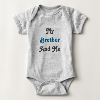 Best Friends Are We! Twin set (Part 2 of 2) Blue Baby Bodysuit