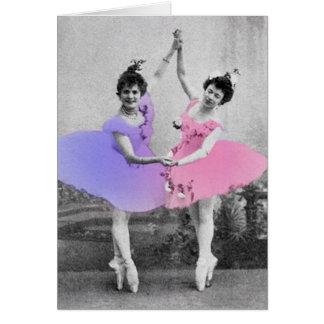 Best Friends Ballerinas Greeting Card