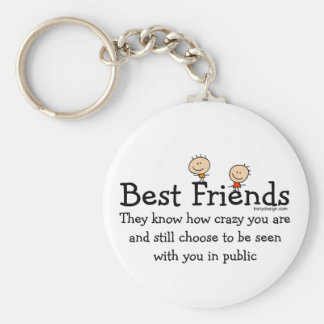 Best Friends Basic Round Button Key Ring