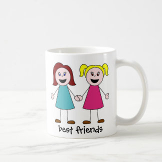 best friends, best friends basic white mug