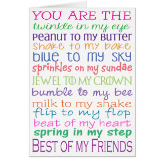 Best Friends Blank Greeting Card