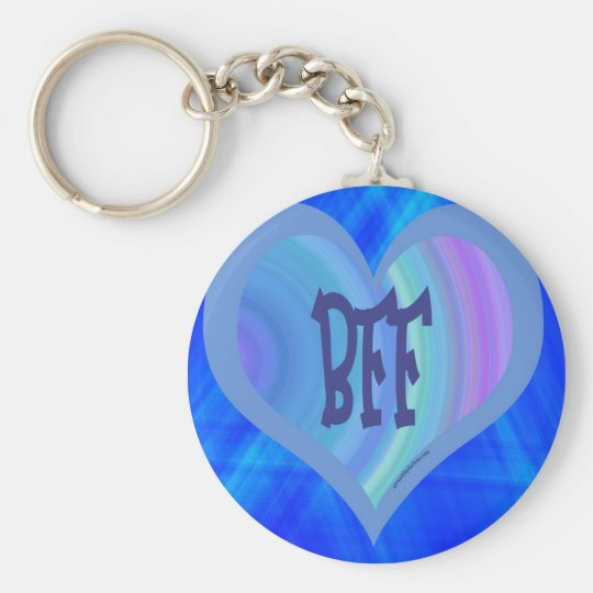 BEST FRIENDS BLUE HEART KEY RING