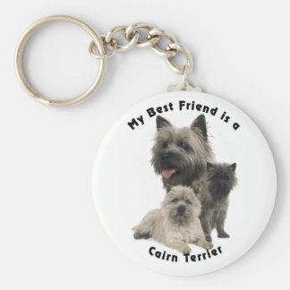 Best Friends Cairn Terrier Key Ring