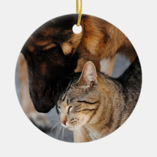 Best Friends- Cat & German Shepherd  Ornament