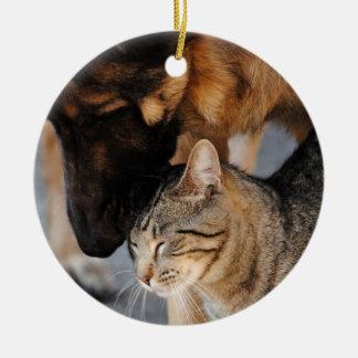 Best Friends- Cat German Shepherd Ornament
