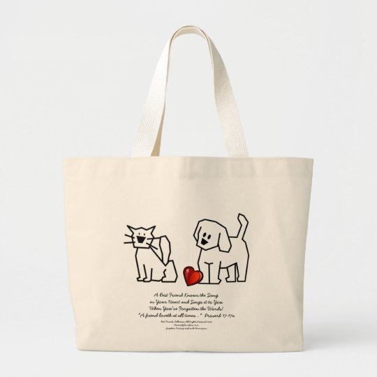Best Friends Collection Song Large Tote Bag