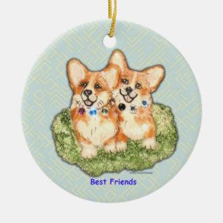 """Best Friends"" Corgi Ornament"