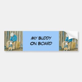 Best Friends ~ Cowboy & Australian Shepherd Bumper Sticker