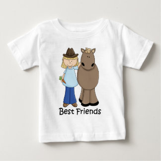 Best Friends - Cowgirl and Horse Baby T-Shirt