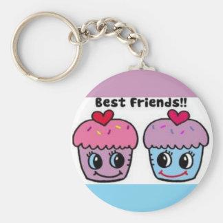 Best Friends Cupcakes Key Ring