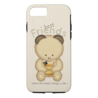 Best Friends Cute Honey Bear And Bee iPhone 8/7 Case