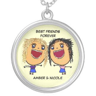 Best Friends For Life Cartoon Pendants