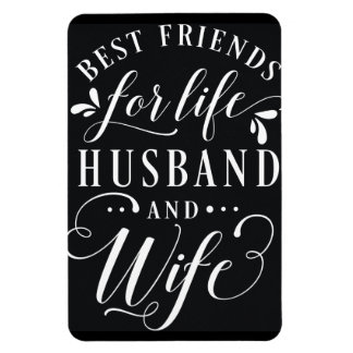 Best Friends for Life Husband and Wife Chalkboard Magnet