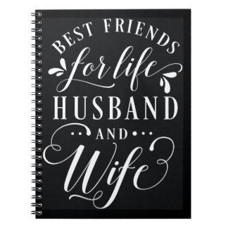 Best Friends for Life Husband and Wife Chalkboard Notebook