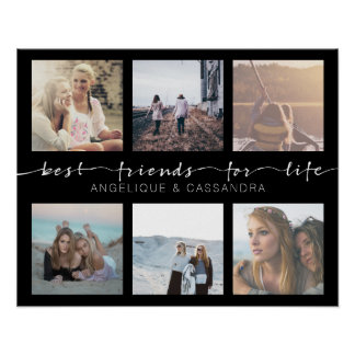 Best Friends for Life Instagram Photo Typography Poster