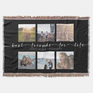 Best Friends for Life Instagram Photo Typography Throw Blanket