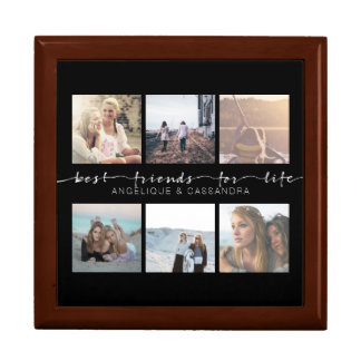 Best Friends for Life Typography Instagram Photos Gift Box
