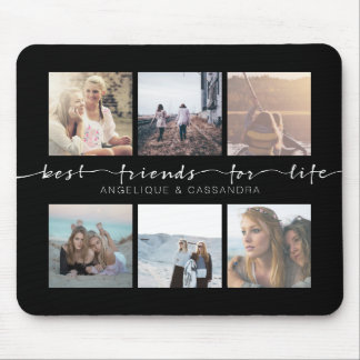 Best Friends for Life Typography Instagram Photos Mouse Mat
