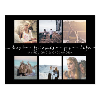Best Friends for Life Typography Instagram Photos Postcard