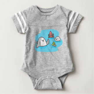 Best Friends Forever Baby Football Bodysuit