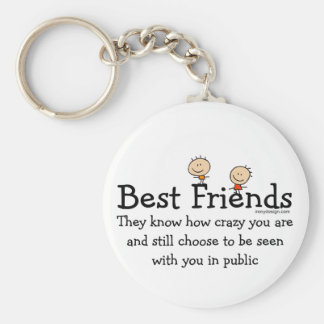Best Friends Forever Basic Round Button Key Ring