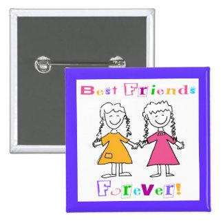 Best Friends Forever BFF Gifts 15 Cm Square Badge
