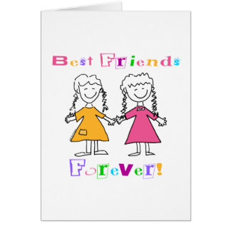 Best Friends Forever BFF Gifts Greeting Card