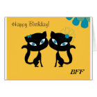 Best Friends Forever (BFF), I love Cats! Card
