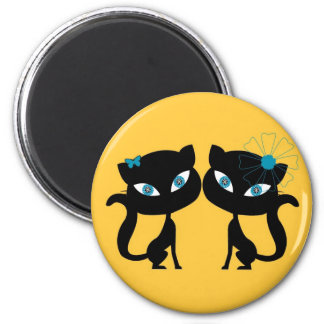 Best Friends Forever (BFF), I love Cats! Magnet