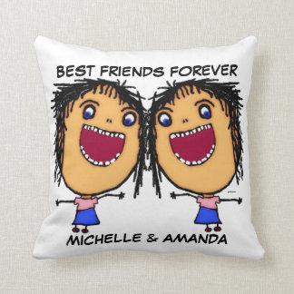 Best Friends Forever Cartoon Cushion