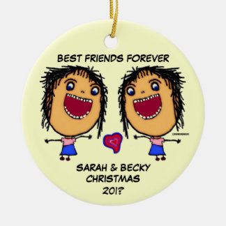 Best Friends Forever Christmas Ornament