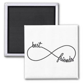 Best friends forever square magnet