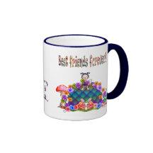 Best Friends Forever Pixel Art Ringer Mug