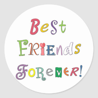 Best Friends Forever Round Sticker