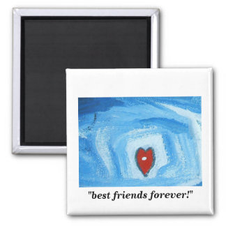 BEST FRIENDS FOREVER SQUARE MAGNET