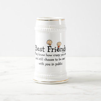 Best Friends Funny Saying Beer Stein