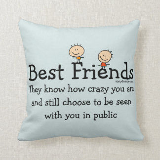 Best Friends Funny Saying Throw Pillow