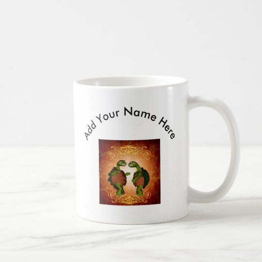 Best friends, funny turtles coffee mug