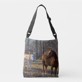 Best Friends Horse and Donkey Crossbody and Tote