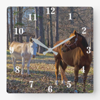 Best Friends Horse and Donkey Wall Clock