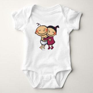 Best Friends Hugging Baby Bodysuit