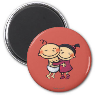 Best Friends Hugging Magnet