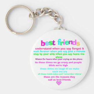 best friends key chain