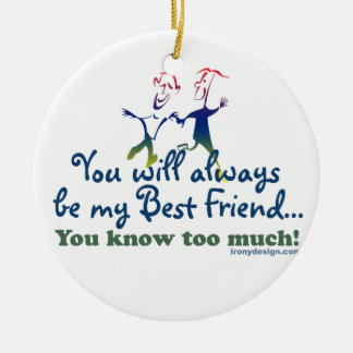 Best Friends Knows Christmas Ornament