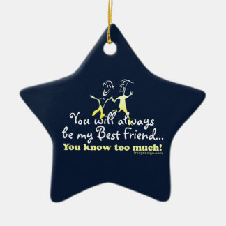 Best Friends Knows Keepsake Double-Sided Star Ceramic Christmas Ornament