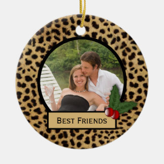 Best Friends Leopard Print Christmas Ornament
