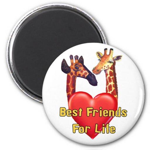 Best Friends Refrigerator Magnet