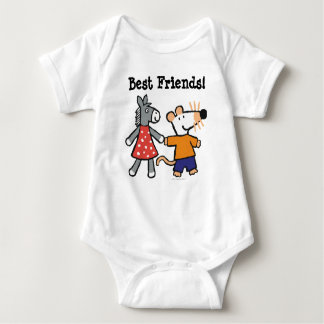 Best Friends Maisy and Dotty Hold Hands Baby Bodysuit
