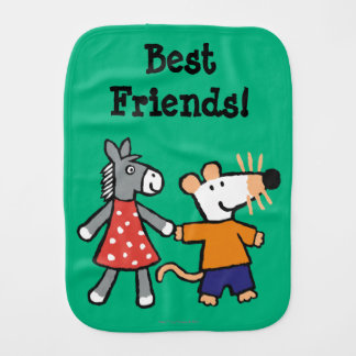 Best Friends Maisy and Dotty Hold Hands Burp Cloth