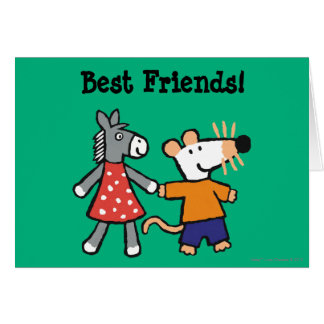 Best Friends Maisy and Dotty Hold Hands Card